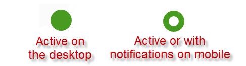 Active Status dots