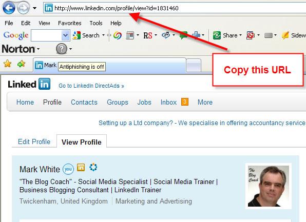LinkedIn Profile Mark White
