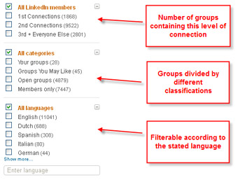 LinkedIn Groups Search Filter