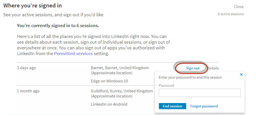 Security on LinkedIn