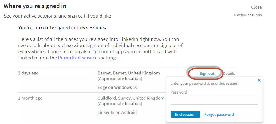 Security on LinkedIn